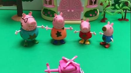 猪妈妈说它们的车坏了,它们都不想走着去游乐场,超级飞侠来送它们