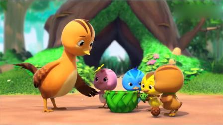 萌鸡小队:他们决定把玩具送给宝宝玩