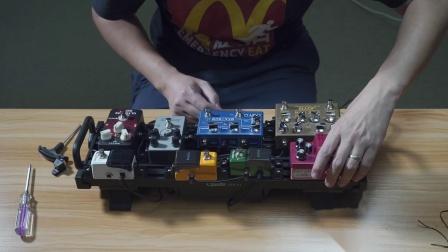 一块迷你效果器板可以装几块效果器?Guitto GPB-01紧凑安装测试