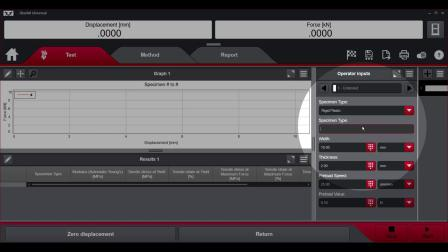 Choice Inputs in Bluehill® Universal Software