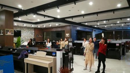 女声合唱《我爱你中国》陈一新改编,湖南羽乐女子合唱团排练,20200922_220750