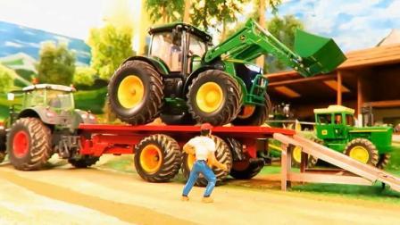 汽车总动员 水泥搅拌车运输拖拉机越野车油罐车工作视频.avi
