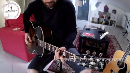 """""""公鸡弦""""意大利产gallistrings佳利磷铜民谣改进款LS1254装在Gibson吉普森和马丁上的音色对比"""