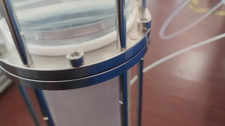 GALAK Leaking Test for Glass Chromatography Column