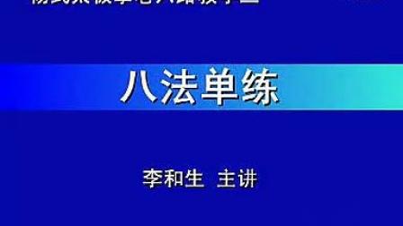 李和生内功推手讲座3-八法单练-_标清