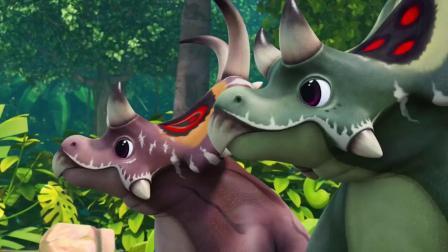 帮帮龙出动:恶魔角龙头上长着荷叶边