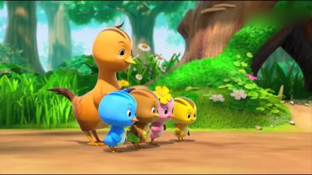 萌鸡小队:乌龟被人当成石头带回家了