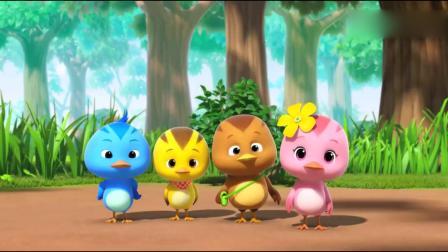 萌鸡小队:萌鸡们和秧鸡宝宝做朋友