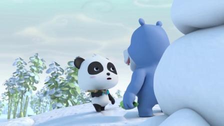 宝宝巴士:壮壮找来了仙人掌给雪人做鼻子