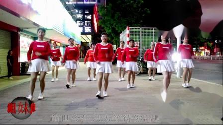 2021龙川思念广场舞姐妹演示:爱情魔力圈