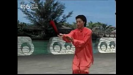 杨式太极扇73式4-11 寒鸭浮水