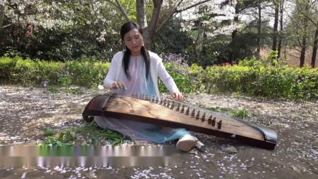 卓玛 (古筝版纯音乐)上海顾村公园游客表演实录