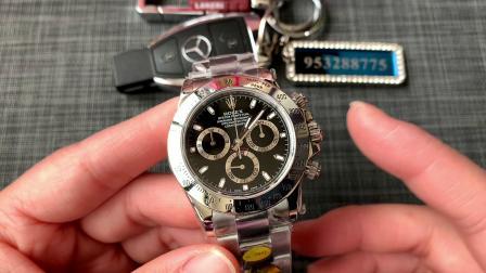 大v腕表 大唯时刻 劳力士黑钢迪改装正品三件套腕表!