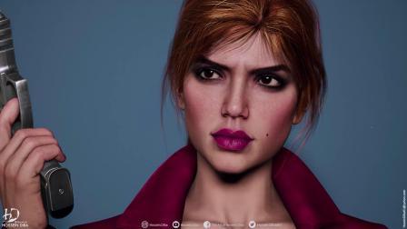 【游侠网】《GTA3》封面女子高清3D模型