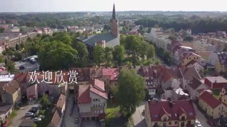 航拍波兰小镇奥莱茨科10942