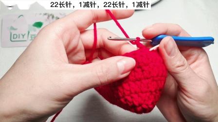 钩针编织,蝴蝶结小香包【主体】热情的红色超级美腻可装各种小物品和M巾