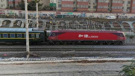 20201017 174126 陇海铁路客车K1131次列车进西安站