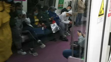 20201017 201117 西安地铁3号线开往鱼化寨方向的列车出辛家庙站