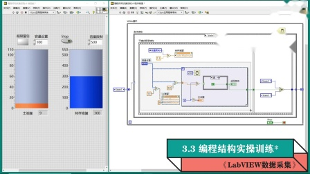 《LabVIEW数据采集》视频教程第46集:程序结构实操训练*