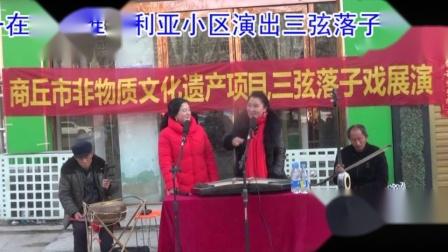 柘城县曲艺家协会21年正月初一在维多利亚小区怀秀英徐长英演唱对口三弦落子龙凤剑侠1