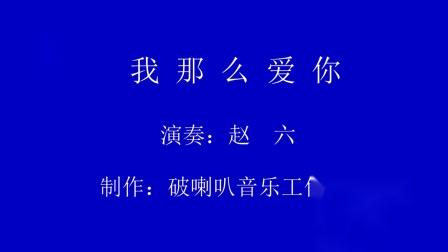 赵六钢棒吉他演奏系列:我那么爱你!