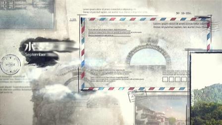 AE940 水墨风格历史文化图文展示AE模板