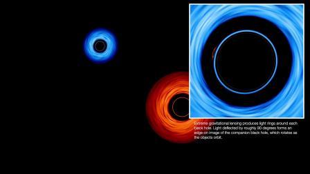 【游侠网】双黑洞可视化图像