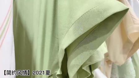 杭州品牌女装折扣简约风情夏装直播货源,分份批发,拿货渠道