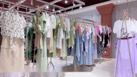 品牌折扣女装简约风情夏装尾货批发,拿货渠道,就找广州明浩