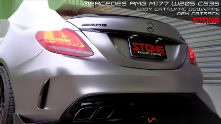 Mercedes AMG M177 W205 C63S / Stone Eddy Catted Downpipe