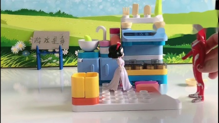 儿童玩具:白雪做饭引起了火灾