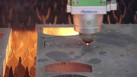 激光切割机6kw切割30mm碳钢,穿孔切割,海目星一步到位!