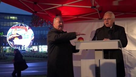 22秒!梦幻LED球形屏助阵德国储蓄银行开幕式,开启地标直播新玩法