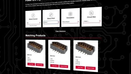 Molex模式产品选择工具-中文
