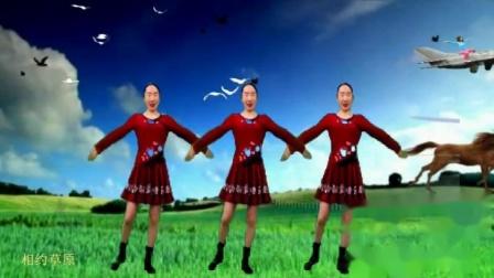 美女草原牧马场舞蹈-相约草原
