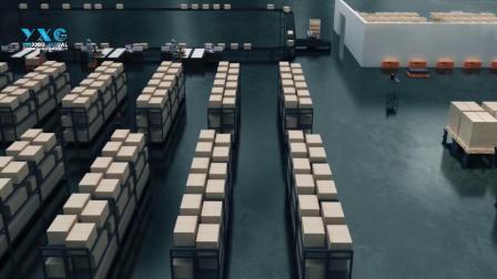 agv仓储物流机器人最好看的动画