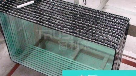 窗利来暖边胶条制作中空玻璃流程