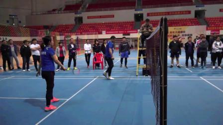 枣庄市第十一届全民健身运动会羽毛球比赛滕州老年体协代表队混合双打