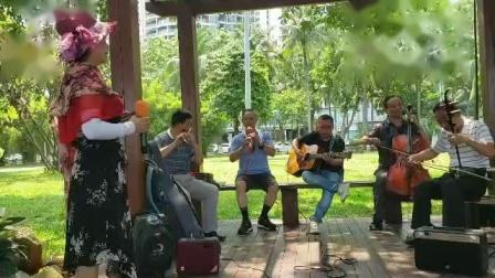 女声独唱(我爱你塞北的雪)伴奏二胡丁连城 吉他粱 笛子沈 葫芦丝夏 大提琴薛