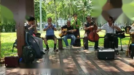 女声独唱(边彊的泉水清又纯)伴奏二胡丁连城 吉他粱 笛子沈 葫芦丝夏 大提琴薛