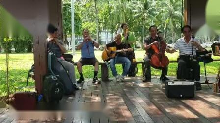 女声独唱(沂蒙颂)伴奏二胡丁连城 吉他粱 笛子沈 葫芦丝夏 大提琴薛