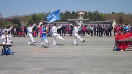 北镇市秧歌舞蹈协会梨花节汇演《北镇大唐剧组》制作-东明2021.4.25