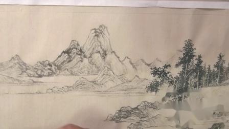 中国历代山水画技法之【陆羽烹茶图】周武元示范节选
