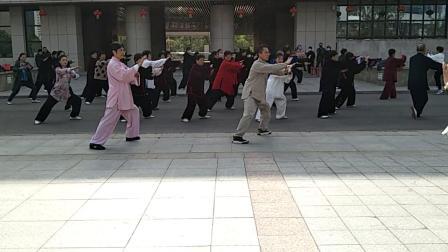 传统杨氏太极拳85式20210428(杨大卫、栾德英两位老师领练)