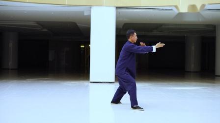 传统杨氏太极拳85式第三段口令版杨大卫演练