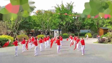 9学练第三套柔力球双拍双球基础套路《歌唱祖国》福州市晋安区新秀队-制作大海