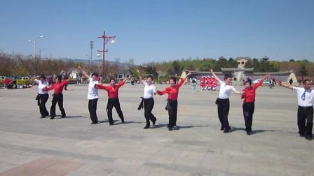 北镇市秧歌舞蹈协会梨花节汇演《高山子水兵舞队》2制作-东明2021.4.25