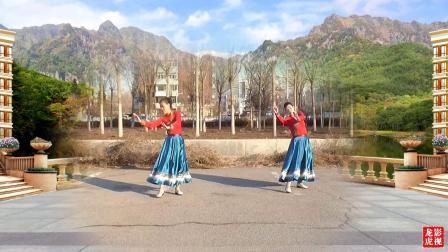 天津玉儿广场舞《高高原上草》视频制作:龙虎影音