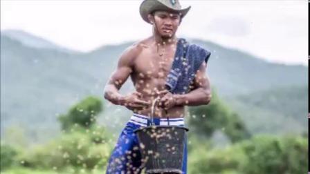 农民的儿子,播求牛仔cowboy在准备新一年的耕种