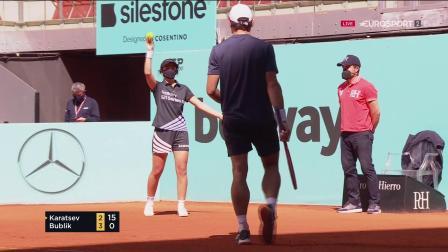 【哇哈体育】ATP 1000 馬德里公開賽2021卡拉采夫vs布布利克